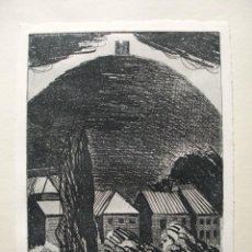 Arte: JORDI CUROS GRABADO 29 X 20 CM. PROVA D'ARTISTA. FIRMADO Y FECHADO 1974. AUCA D'EN CURÓS.. Lote 76993189