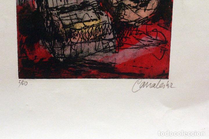 Arte: CANALES, FIRMADO Y NUMERADO. 5/60. OBRA ABSTRACTA 28X20CM - Foto 2 - 77457841