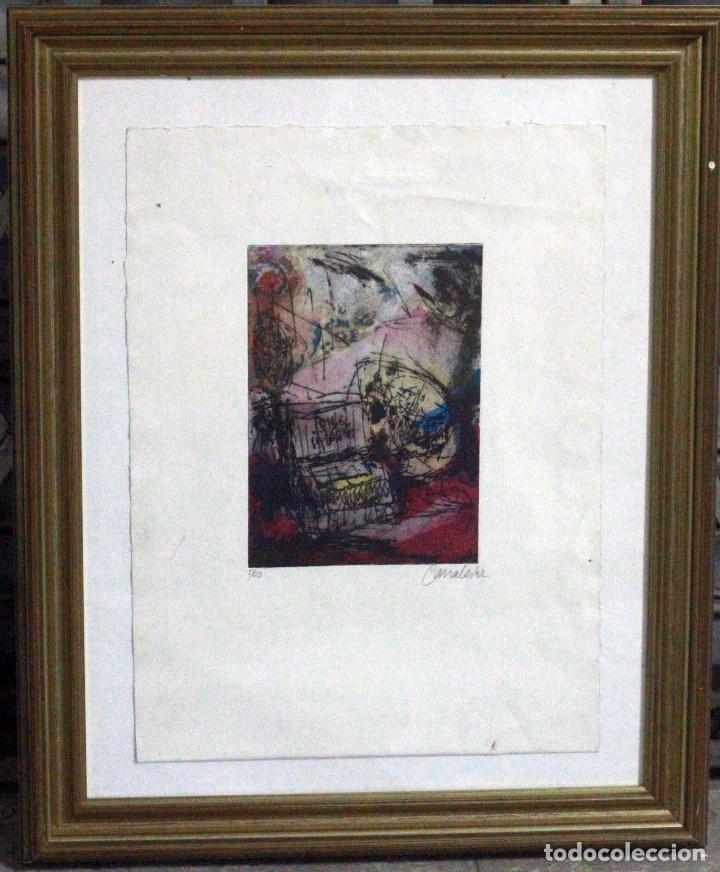 Arte: CANALES, FIRMADO Y NUMERADO. 5/60. OBRA ABSTRACTA 28X20CM - Foto 3 - 77457841