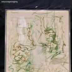 Arte: IMPRESION SOBRE PAPEL FIRMA ILEGIBLE 1976 PAREJA CONVERSANDO 54X41CMS. Lote 77978533