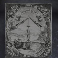 Arte: CRISTOFORO BIANCHI GRABADO IDEA DE UN PRINCIPE POLITICO CRISTIANO SAAVEDRA FAJARDO 1649. Lote 78033153