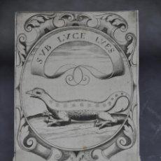 Arte: CRISTOFORO BIANCHI GRABADO IDEA DE UN PRINCIPE POLITICO CRISTIANO SAAVEDRA FAJARDO 1649. Lote 78035101