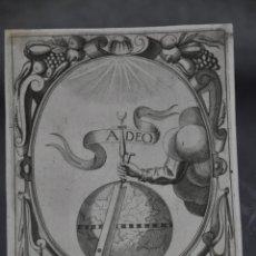 Arte: CRISTOFORO BIANCHI GRABADO IDEA DE UN PRINCIPE POLITICO CRISTIANO SAAVEDRA FAJARDO 1649. Lote 78036173