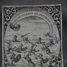 Arte: CRISTOFORO BIANCHI GRABADO IDEA DE UN PRINCIPE POLITICO CRISTIANO SAAVEDRA FAJARDO 1649. Lote 78036213