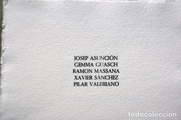 Arte: NACER - GRABADOS de JOSEP ASUNCION- GEMMA GUASCH - RAMON MASSANA - XAVIER SANCHEZ - PILAR VALERIANO - Foto 3 - 78117749