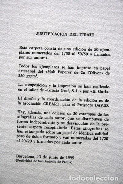 Arte: NACER - GRABADOS de JOSEP ASUNCION- GEMMA GUASCH - RAMON MASSANA - XAVIER SANCHEZ - PILAR VALERIANO - Foto 10 - 78117749