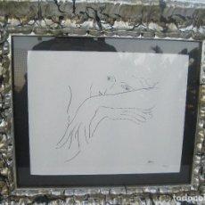 Arte: GRABADO EN TINTA SECA, FIRMADO HENRI MATISSE, 13/500, 29X23 CM. CON MARCO 48X42. Lote 78158449