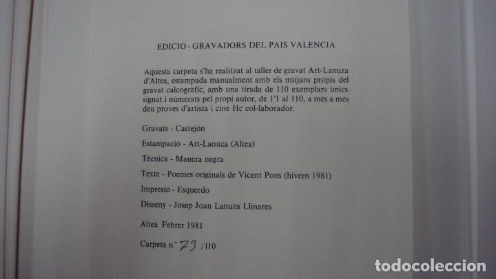 Arte: GRABADO DE JOAN CASTEJON, FIRMADO Y NUMERADO AÑO 1981 - Foto 4 - 119300858