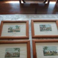 Arte: GRABADOS (4) INGLESES DE CAZA S XIX C. VERNET. Lote 78287013