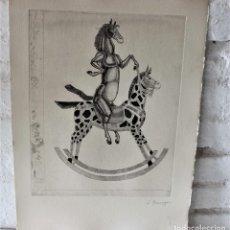 Arte: AGUAFUERTE ORIGINAL FIRMADO A LÁPIZ DE JOSEP GRANYER GIRALT (BARCELONA 1899 - 1983) ARTISTA CATALÁN.. Lote 78517101