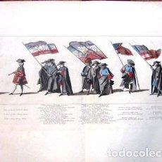 Arte: GRABADO HOLANDES S.XVIII.(1753) AGUAFUERTE COLOREADO A MANO Nº 20. JAN PUNT, PIETER JAN VAN CUYCK. Lote 79014925