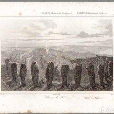 Arte: FRANCIA : CAMPO DE KARNAC - GRABADO THIENON CHOLET LEMAITRE SIGLO XIX. Lote 79043525