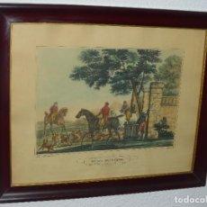Arte: GRABADO INGLÉS STAG HUNTING. Lote 79083261