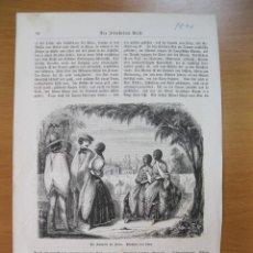 Arte: ESCENA EN UNA ALAMEDA DE LA CIUDAD DE LIMA (PERÚ), 1856.. Lote 79285281