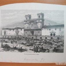 Arte: IGLESIA DE SAN FRANCISCO EN QUITO (ECUADOR, AMÉRICA DEL SUR) 1893. Lote 79308293