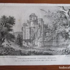 Arte: LITOGRAFÍA HURTSMONCEAUX CASTLE SUSSEX. 1771 . G. ROWE , PRINTED BY P. SIMONAU. Lote 79546981