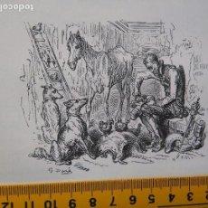 Arte: KK ILUSTRACION AÑOS 50 GUSTAVO DORE , DON QUIJOTE DE LA MANCHA ESCENA H PISAN .- MIGUEL DE CERVANTES. Lote 79712953
