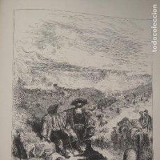 Arte: KK GRABADO LAMINA GRABADOR DORE FABULA LA FONTAINE - EL PASTOR Y EL MONARCA. Lote 79796537