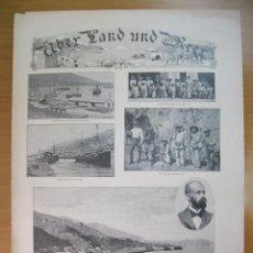 Arte: PORTADA DE REVISTA ALEMANA DE 1903, CON TEMAS DE VENEZUELA. Lote 79875901