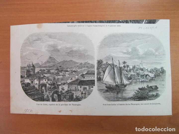 VISTAS DE COLÓN, ANTIGUA CAPITAL DE NICARAGUA (AMÉRICA CENTRAL), 1857 (Arte - Grabados - Modernos siglo XIX)