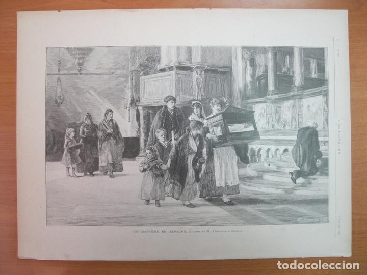 BAUTISMO EN UNA IGLESIA DE ESPAÑA, 1897. A. BEZZOS (Arte - Grabados - Modernos siglo XIX)