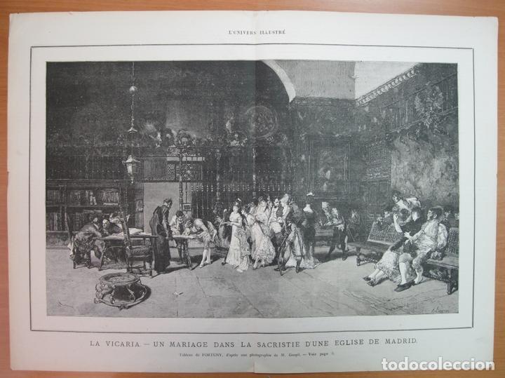 CELEBRACIÓN DE UNA BODA EN UNA SANCRISTIA DE UNA IGLESIA DE MADRID (ESPAÑA), 1880 CIRCA. M. GOUPIL (Arte - Grabados - Modernos siglo XIX)