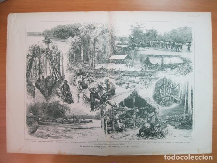 ESCENAS DE TRABAJOS RURALES EN LA GUAYANA (AMÉRICA DEL SUR), 1895 (Arte - Grabados - Modernos siglo XIX)