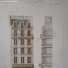 Arte: DIFICIL GRABADO ARQUITECTURA NAPOLEON III S. XIX-MANSIONES DE PARIS POR CESAR DALY-MAISON A LOYER . Lote 80191057
