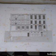 Arte: DIFICIL GRABADO ARQUITECTURA NAPOLEON III S. XIX-MANSIONES DE PARIS POR CESAR DALY-MAISON A LOYER . Lote 80191357