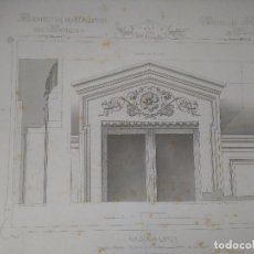 Arte: DIFICIL GRABADO ARQUITECTURA NAPOLEON III S. XIX-MANSIONES DE PARIS POR CESAR DALY-MAISON A LOYER . Lote 80191633