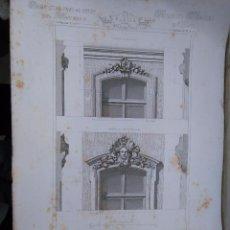 Arte: HOTEL GRABADO ARQUITECTURA NAPOLEON III S. XIX-MANSIONES DE PARIS POR CESAR DALY-MAISON A LOYER . Lote 80193865