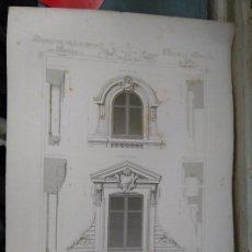 Arte: HOTEL GRABADO ARQUITECTURA NAPOLEON III S. XIX-MANSIONES DE PARIS POR CESAR DALY-MAISON A LOYER . Lote 80193913