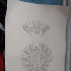 Arte: GRABADO DE PLANCHA SIGLO XIX MUSAICI - MOTIVOS ARABES MEDIDAS 47 X 35 CM. Lote 80196505