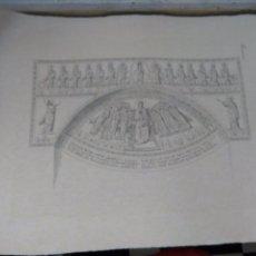 Arte: GRABADO DE PLANCHA SIGLO XIX MUSAICI - MEDIDAS 47 X 35 CM. Lote 80196697