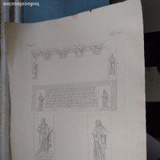Arte: GRABADO DE PLANCHA SIGLO XIX MUSAICI - MEDIDAS 47 X 35 CM. Lote 80196757
