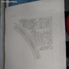 Arte: GRABADO DE PLANCHA SIGLO XIX MUSAICI - MEDIDAS 47 X 35 CM. Lote 80196813