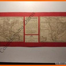 Arte: L'AMERIQUE SEPTENTRIONALE & MERIDIONALE - ORIGINAL DE 1726. Lote 80764290