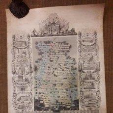 Arte: GRABADO GENEALOGIA DE LOS REYES DE ESPAÑA Y DE PORTUGAL 1854 JAIME JOSE MORAGUES. Lote 81270748