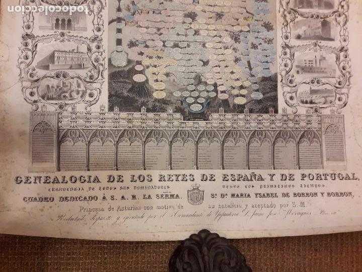 Arte: GRABADO GENEALOGIA DE LOS REYES DE ESPAÑA Y DE PORTUGAL 1854 JAIME JOSE MORAGUES - Foto 5 - 81270748