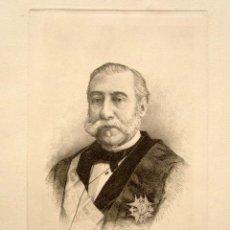 Arte: GRABADO ORIGINAL DE MANUEL ALONSO MARTINEZ. POLÍTICO ESPAÑOL. MINISTRO DE JUSTICIA. 30 X 22 CM . Lote 81535140