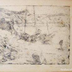 Arte: BARCAS VARADAS. JOAQUIN MIR TRINXET (1873-1940). GRABADO AL AGUAFUERTE. FIRMADO Y NUMERADO 1/6. . Lote 81793916
