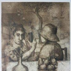 Arte: MONIQUE DE ROUX, PRECIOSO GRABADO (AGUAFUERTE) NUMERADO Y FIRMADO (FORMA PAREJA CON OTRO QUE TENGO.. Lote 82740030