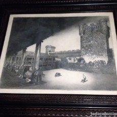 Arte: TOROS EN OROPESA (TOLEDO) POR J GALLARDO (CALATAYUD, ZARAGOZA). Lote 82907492