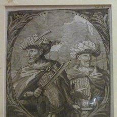 Arte: GRABADO AL COBRE - 1681. HORUSCE UND HAREADEN BARBAROSSA. Lote 83292424