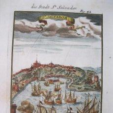 Arte: VISTA DE LA CIUDAD DE SAN SALVADOR DE BAHIA (BRASIL), 1685. MALLET. Lote 83327500