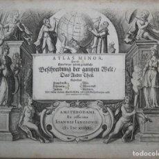 Arte: FRONTISPICIO DEL ATLAS MINOR, 1651.MERCATOR/JANSSONIUS. Lote 83366692