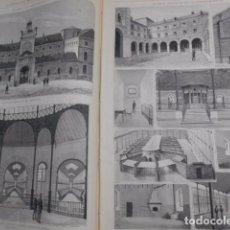Arte: GRABADO 1883: LA CARCEL MODELO DE MADRID, 2 GRABADOS A PLENA PAG. ILUSTRACION ESPAÑOLA Y AMERICANA. Lote 83376364