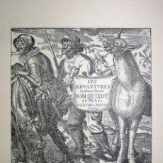Arte: HOMENAJE AL AUTOR DEL QUIJOTE MIGUEL DE CERVANTES SAAVEDRA, EXPO. UNIVERSAL BRUSELAS 1958. ESPAÑA. Lote 83422312