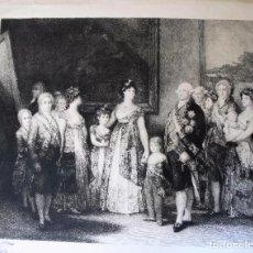 Arte: FAMILIA DE CARLOS CARLOS IV, GRABADO ORIGINAL DE BARTOLOMÉ MAURA Y MONTANER. Lote 83556000