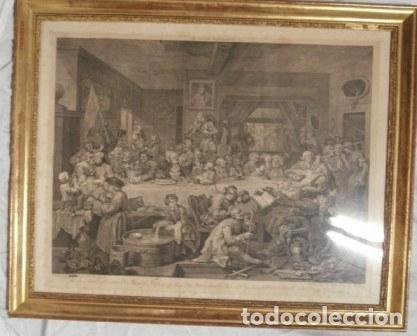 ANTIGUO GRABADO DE W. HOGART 1755 (Arte - Grabados - Antiguos hasta el siglo XVIII)